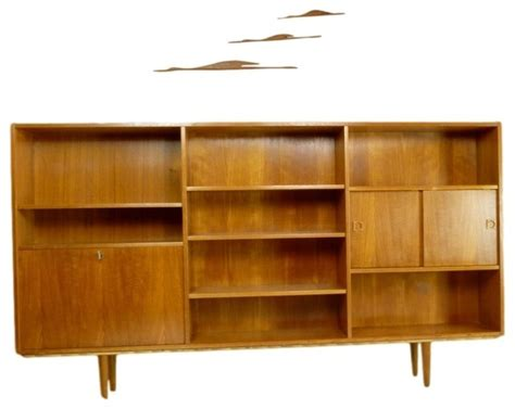 mid century bookshelves mid century teak bookcase midcentury bookcases atlanta by retropassion21