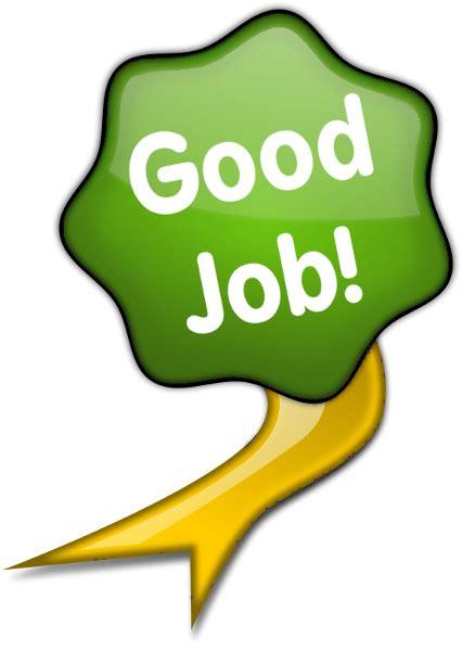 Green glossy ribbon green good job education awards glossy