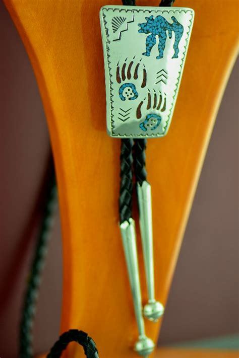 Bolo Tie Chalcedonized Coral Bt 185 Kee Begay Bolo Tie