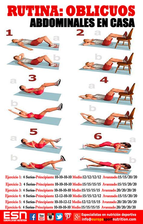 ejercicios abdominales en casa marca los oblicuos abdominales con esta rutina l