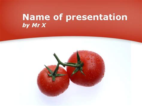 powerpoint themes fruit and vegetables tomatoes fruits and vegetables powerpoint template