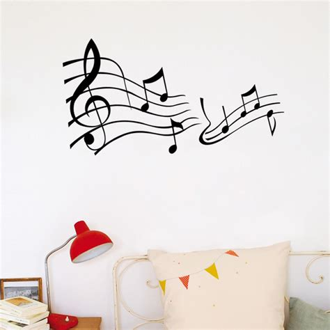 music decals for bedroom music note decor mural art vinyl wall sticker decal home decor words wall art