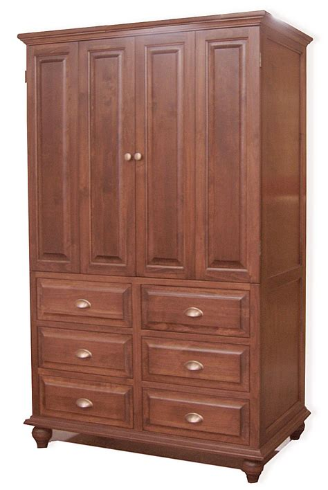 maple armoire custom solid maple armoire with bi fold doors