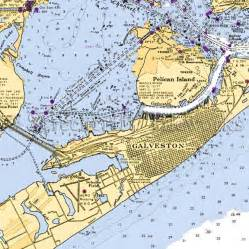 Custom Wall Mural From Photo texas galveston close up nautical chart decor beach