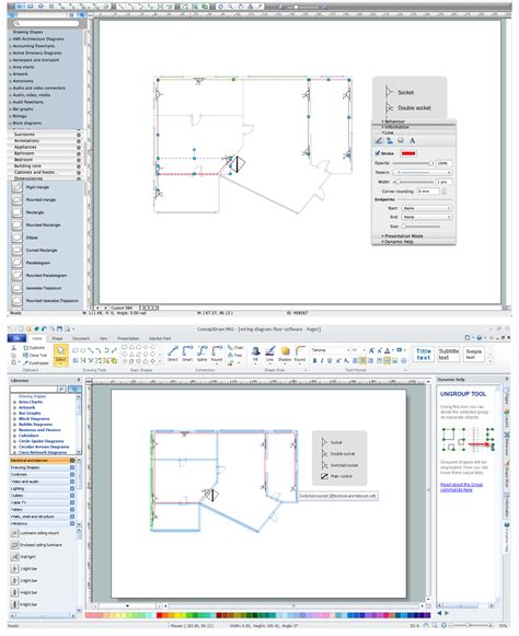 wiring diagrams with conceptdraw pro electrical drawing