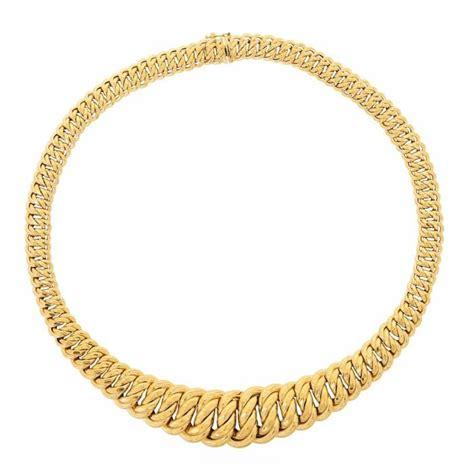 collier maille am 233 ricaine en or jaune 18 carats achat vente sautoir et collier collier