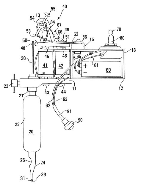tattoo gun assembly diagram patent us6550356 tattoo technology google patenten
