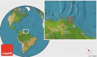 Where Is Trinidad And Tobago Located On The World Map by Satellite Location Map Of Caroni