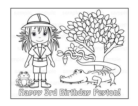 safari person coloring page safari coloring pages coloringsuite com