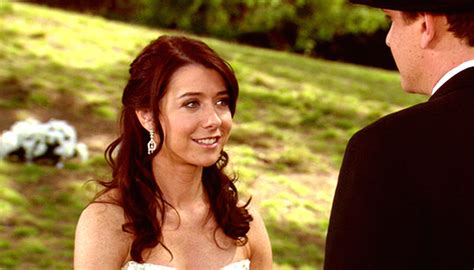 Alyson Hannigan At How I Met Your by Himym The Necessity Of Aldrin Chekhov S Gunman