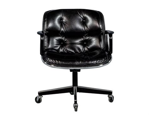 tufted leather office chair vintage pair of vintage black leather tufted office chairs