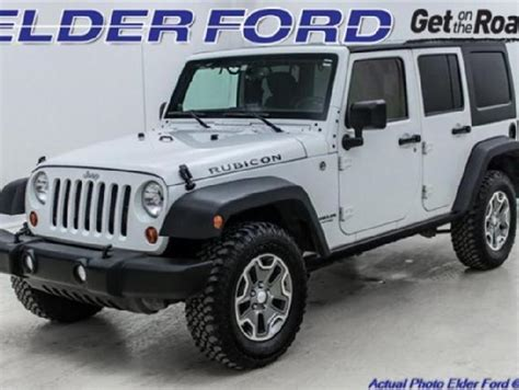 Jeep 4 Door Rubicon by White Rubicon 4 Door Jeep Used Cars Mitula Cars