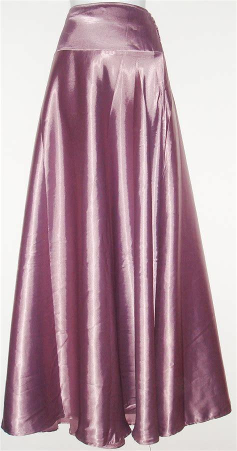purple chagne silk skirt