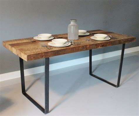 reclaimed wood rustic dining table with by dendroco