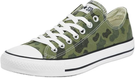 converse camouflage sneakers converse all ox shoes camo print olive