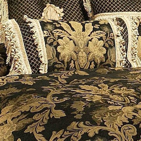 Buy Midnight Duvet Cover Set Black And Gold Bedding The Range Bedroom Lismore Black And Gold Damask Comforter Bedding From Horn Classics