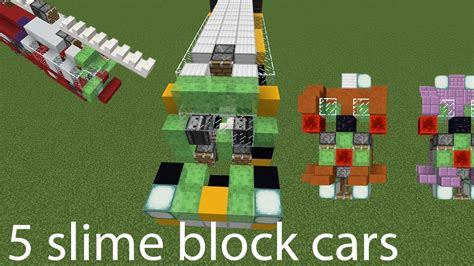 slime block tutorial cubehamster minecraft 5 slime block cars youtube