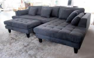 grey sectionals 3pc new modern grey microfiber