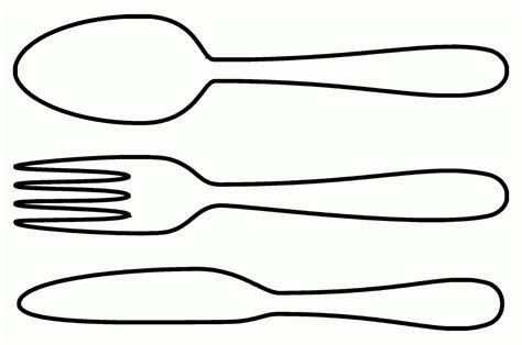 Pisau Restoran mewarnai gambar sendok makan garpu dan pisau contoh