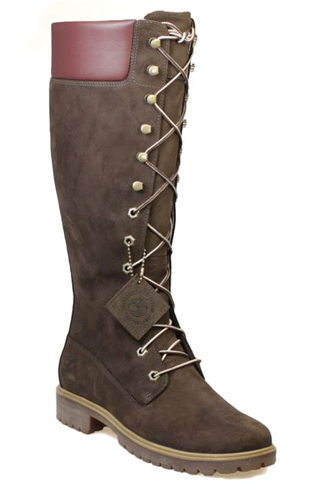 timberland 14 inch s brown leather knee high