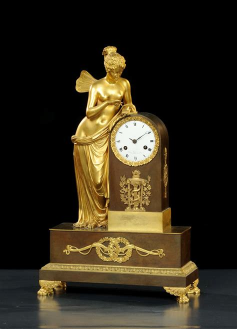 pendole da tavolo orologio a pendolo da tavolo impero in bronzo dorato