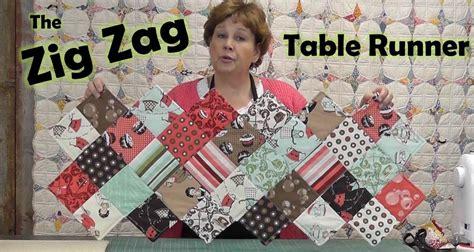 table zig zag zig zag charm pack table runner