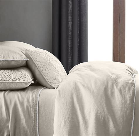 restoration hardware stonewashed belgian linen tipped bedding collection archives intentional