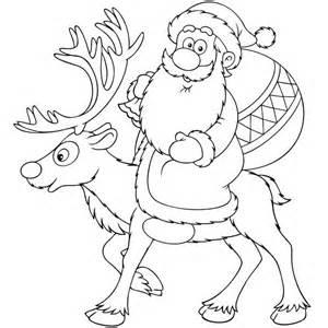 dibujos de navidad pap noel gracioso para colorear dibujo de pap 225 noel en su reno para colorear