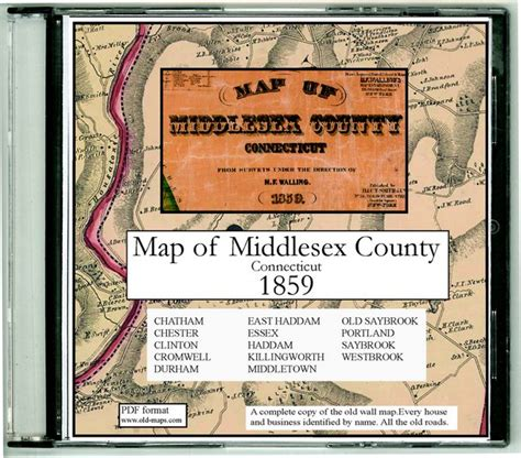 middlesex classic reprint books middlesex county connecticut maps