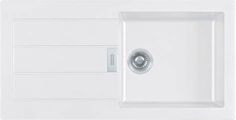 B Q White Kitchen Sinks by Franke Sirius 1 Bowl White Composite Single Kitchen Sink