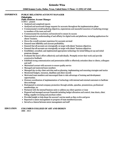 Relations Account Executive Cover Letter by Resume Relations