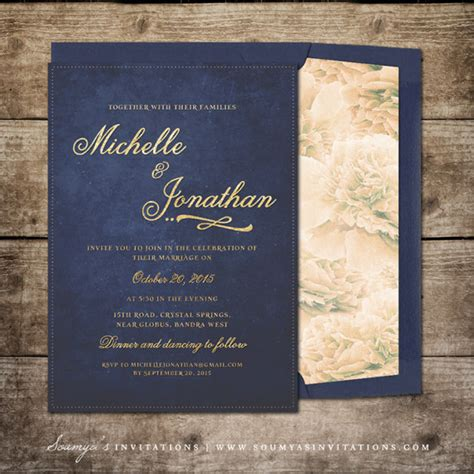Navy Blue And Gold Wedding Invitations lights 171 wedding invitations soumya s invitations