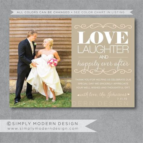 wedding thank you card template photo free ideas thank you card with photo from australia