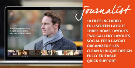 tumblr themes journalist journalist clean responsive blog gallery theme by