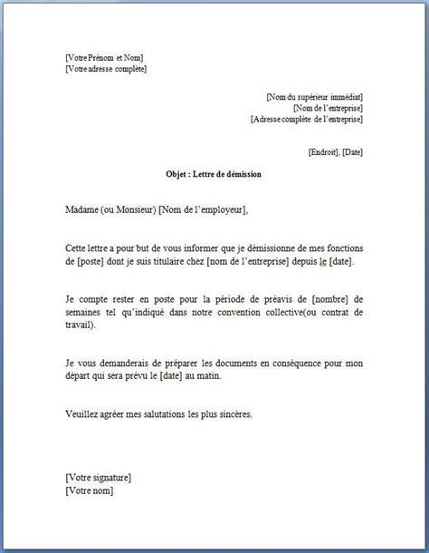Exemple De Lettre De Presentation En Francais le mod 232 le word gratuit de cette lettre de d 233 mission cdi pinteres