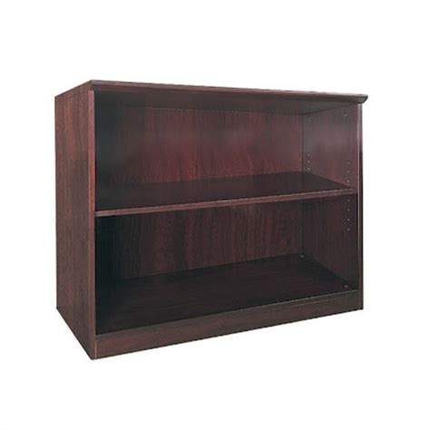 mayline corsica two shelf bookcase in mahagony vb2mah