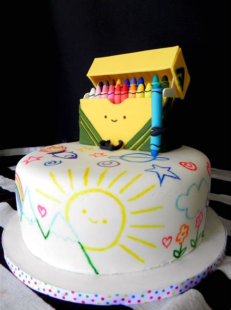 cake doodle ideas crayon rainbow doodle cake cakecentral