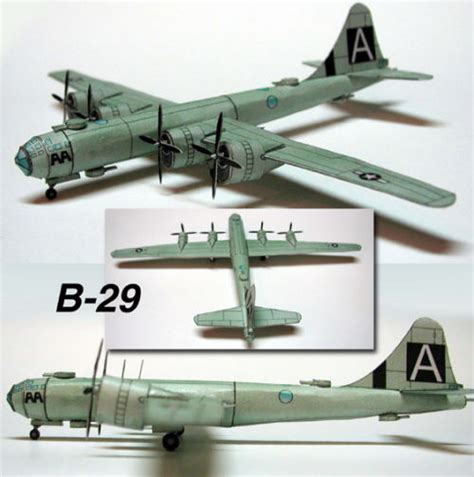 Aircraft Papercraft - this aircraft paper model is a boeing b 29 superfortress