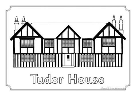 printable tudor house template the tudors colouring sheets sb10209 sparklebox