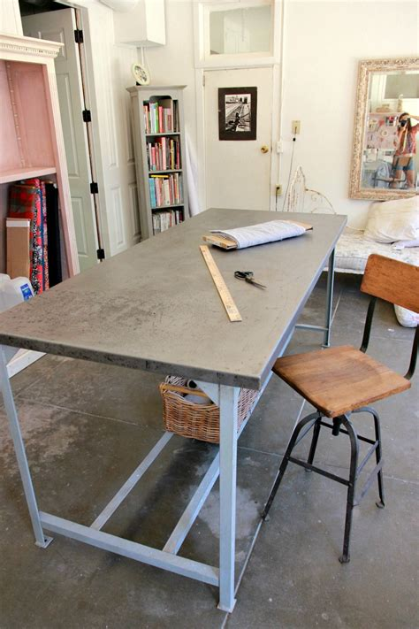 industrial cutting table project sewing room restoring a metal work table to use