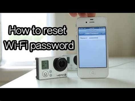 resetting wifi hero 3 hero3 3 how to reset wi fi password gopro tip 208