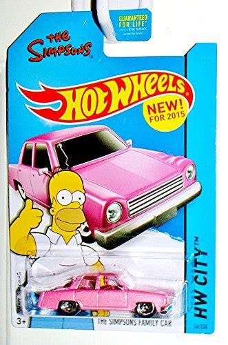 Wheels The Simpsons Homer Family Car Pink Sedan 2017 Hw Miniature wheels 2015 hw city the simpsons family car 56 250 pink wantitall