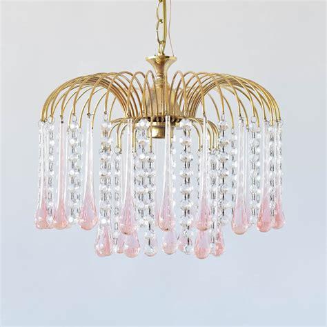 pink chandelier prisms chandelier ideas