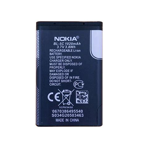Baterai Nokia Bl 5c Original 100 2 replacemet bl 5c bl 5c 1020mah li ion battery for nokia 1000 1100 1200 2300 2600 3650 6230 6030