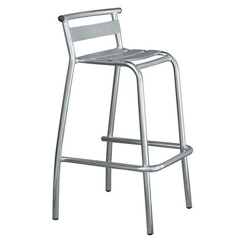 sgabelli alluminio sgabello bar in alluminio con schienale san marco