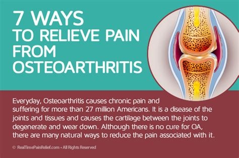 7 Ways To Relieve 7 ways to relieve from osteoarthritis real time