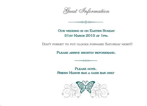 wedding invitation no and guest 2 brambles wedding stationery booklet pages