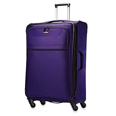 Samsonite Luggage Hyperspin 29 Inch Spinner Upright by Buy Samsonite 174 Lift 29 Inch Upright Expandable Spinner In Purple From Bed Bath Beyond