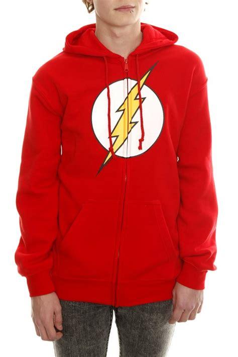 Hoodie The Flash 1 dc comics the flash logo zip hoodie xl 2x hooded sweatshirt new big theory ebay