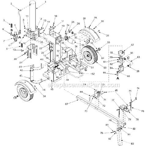 huskee log splitter parts diagram mtd 24af570l134 parts list and diagram 2002